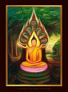 Thaise week, boeddha van donderdag