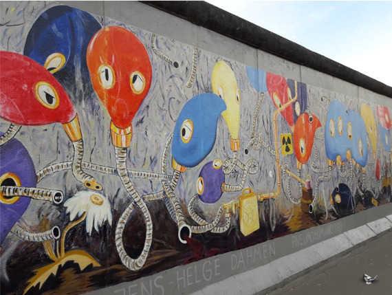 Berlijnse muur tijdens onze begeleide reizen