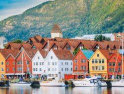 Bergen Noorwegen tijdens cruise met zorg