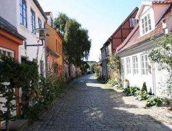 Arhus, Denemarken tijdens een cruise met zorg over de Oostzee