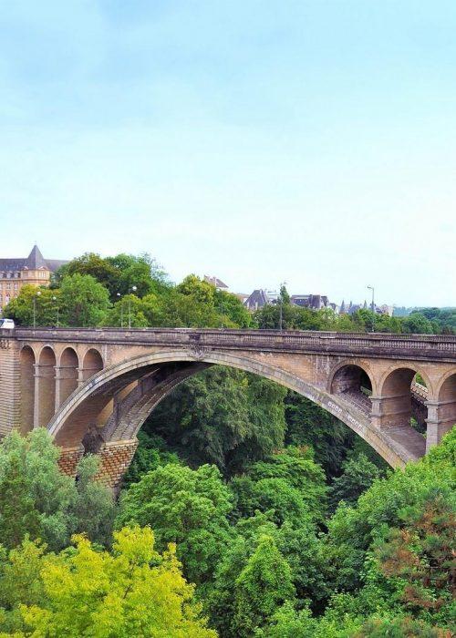 Luxemburg brug, aangepaste vakantie