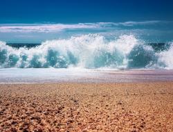 Strand, met strandrolstoel